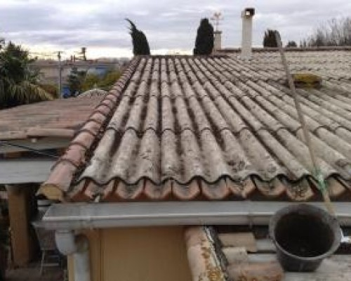 R novation des toitures pr s de carpentras - Fibro ciment toiture ...