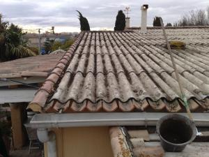 Rénovation / remplacement de toiture en fibro-ciment Avignon (84) Orange